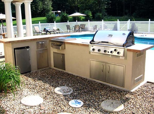 contemporary-outdoor-kitchen-design-with-swimming-pool ... on Outdoor Kitchen With Pool Ideas id=83734