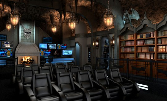home theater design with batman movie theme