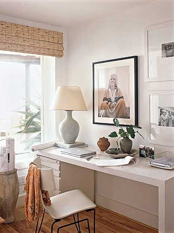 28 White Small Home Office Ideas | HomeMydesign