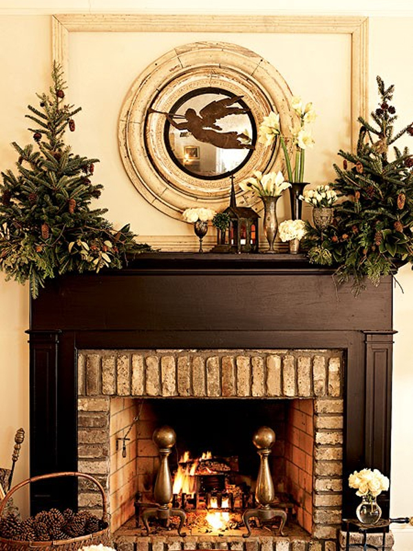 15 Beautiful Christmas Decoration With Fireplace Ornaments Home Design And Interior