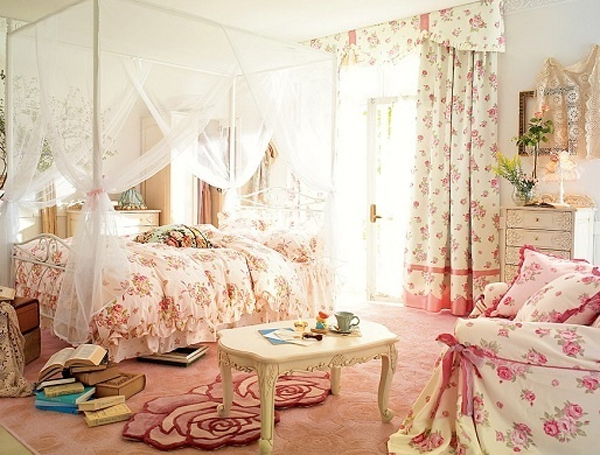 Cute Pink Bedroom Ideas With Wallpaper Theme Homemydesign