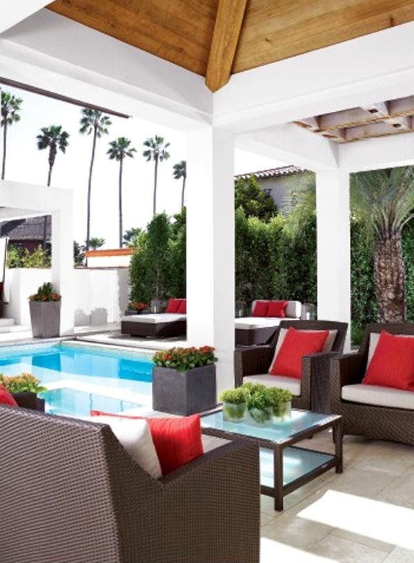 14 Comfortable And Modern Backyard Pool Ideas | HomeMydesign on Modern Backyard Ideas With Pool id=95214