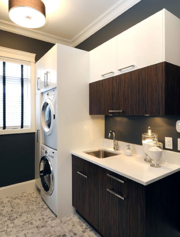 20 Laundry Room Design with Small Space Solutions ... on Laundry Room Cabinet Ideas  id=71663