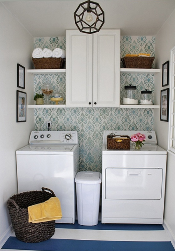 20-small-laundry-room-storage-solutions - HomeMydesign on Small Laundry Room Organization Ideas  id=84825