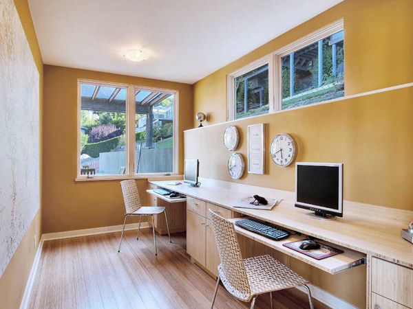 Basement-finishing-with-office-room