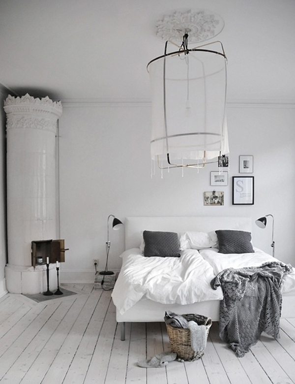 Scandinavian Bedroom Designs With Traditional Fireplaces