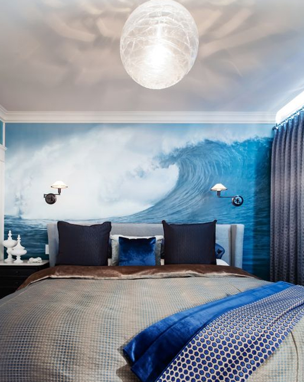 Designing or decorating a teen's room can be a b. blue-masculine-bedroom-design | HomeMydesign