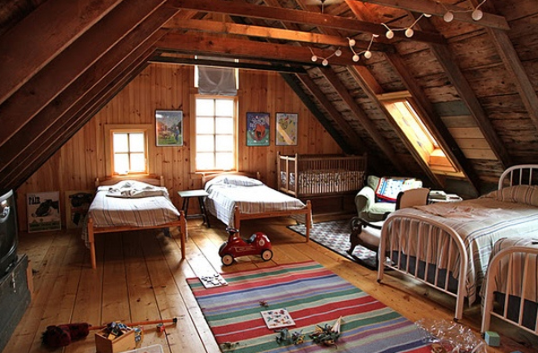 Wooden Attic Room Design Ideas