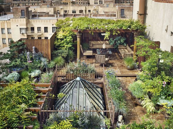 awesome roof garden Awesome Rooftop Gardens In Duplex Penthouse Loft