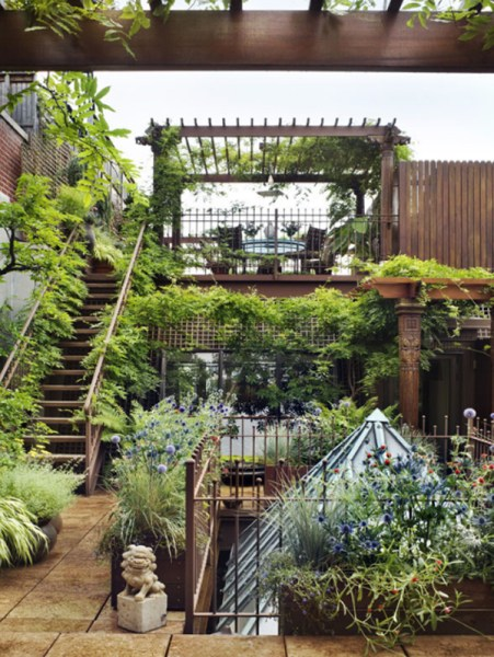 rooftop terrace garden Awesome Rooftop Gardens In Duplex Penthouse Loft | Home