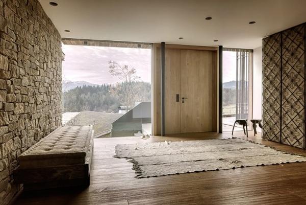 Wooden House Interior In Austrian Alps