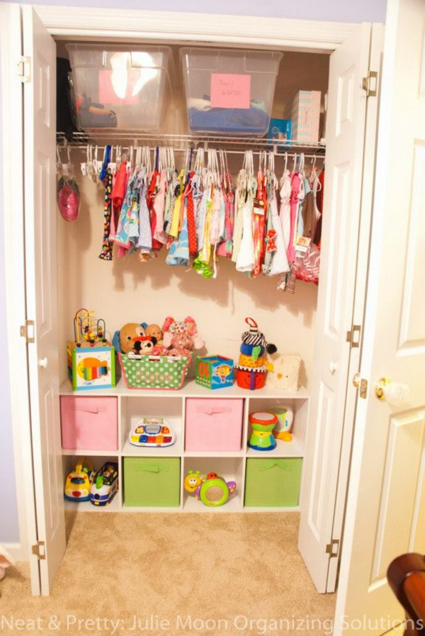 There's something about the emptiness or untidiness of an undecorated room that instantly strikes anxiety into the heart of a type a personality. pretty-kids-closet-ideas   HomeMydesign
