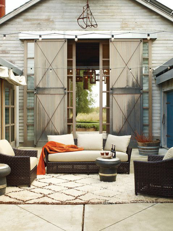 15 Cozy Outdoor Living Space | Home Design And Interior on Farmhouse Outdoor Living Space id=65973