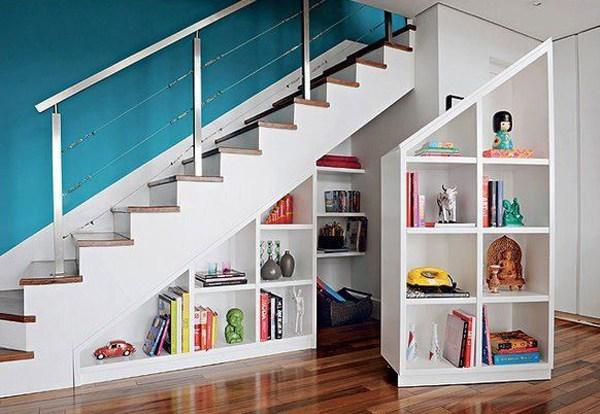 30 Modern Hallway Under Stairs With Storage Ideas Homemydesign | Modern Under Stairs Storage | Hallway Understairs Storage | Grey | Home Stair | Bajo | Minimal