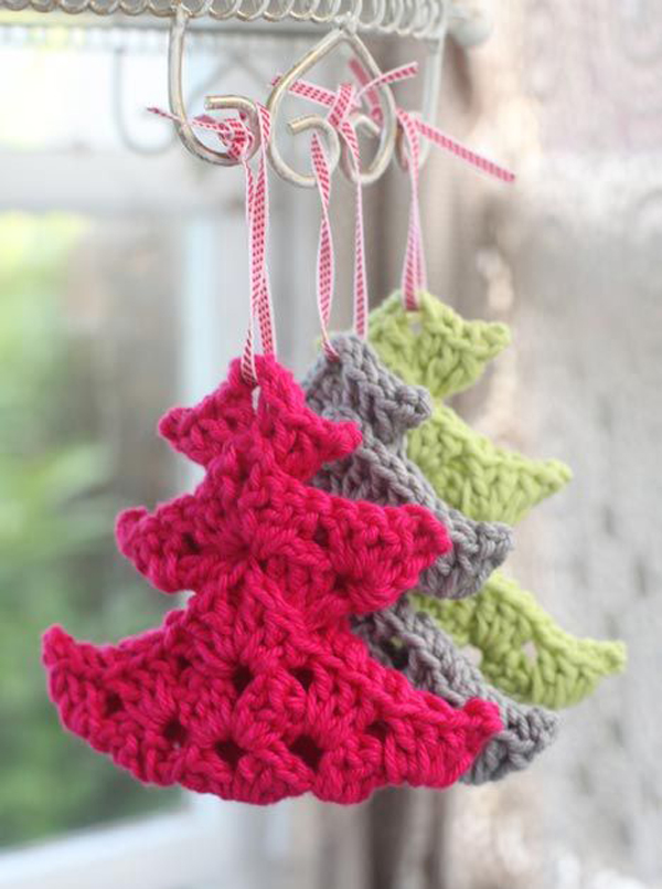 20 Awesome Knitted Christmas Decorations Home Design And Interior