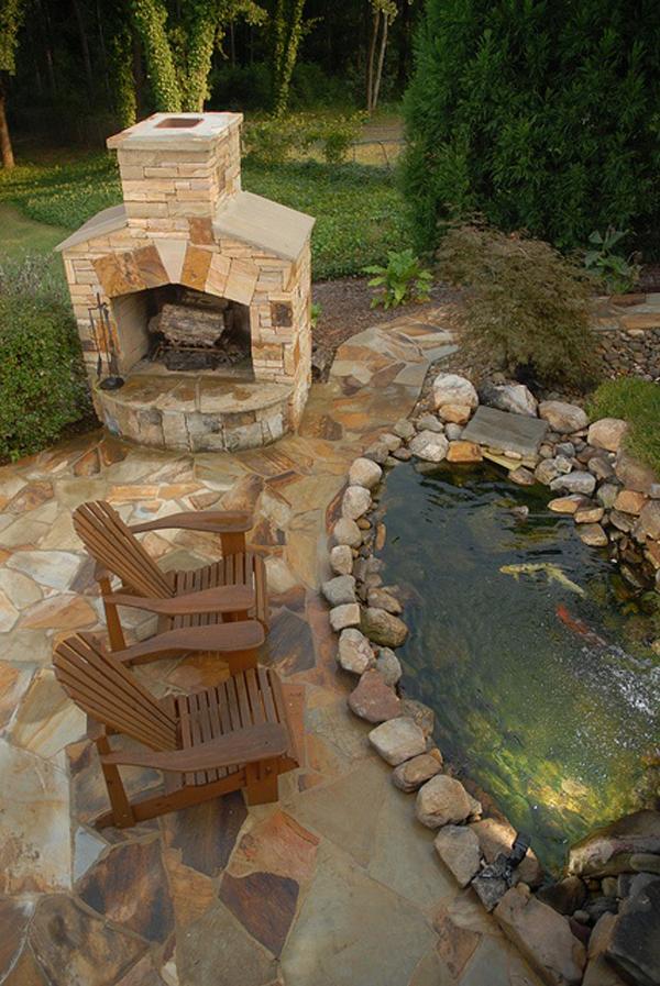 20 Beautiful Backyard Pond Ideas | HomeMydesign on Pond Ideas Backyard id=87469
