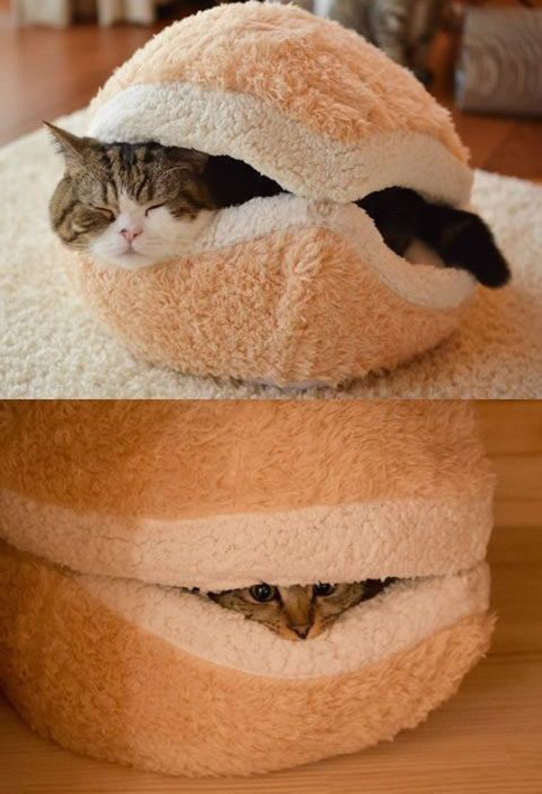 Cute Cat Bed Decoration