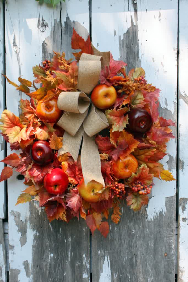 10 Cute DIY Apple Decorations For Autumn Home Design And