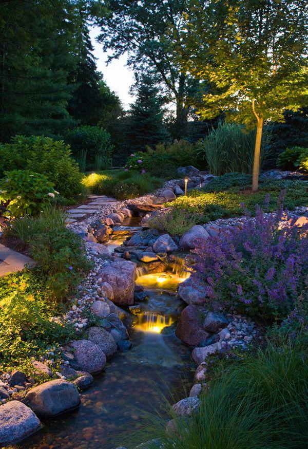 35 Dreamy Garden With Backyard Waterfall Ideas | Home ... on Backyard Patio Landscaping id=12066
