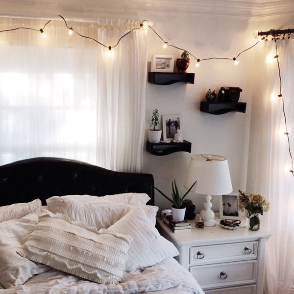 You can also upload and share your favorite white aesthetic desktop wallpapers. cute-room-lighting-for-youthful-girls | HomeMydesign