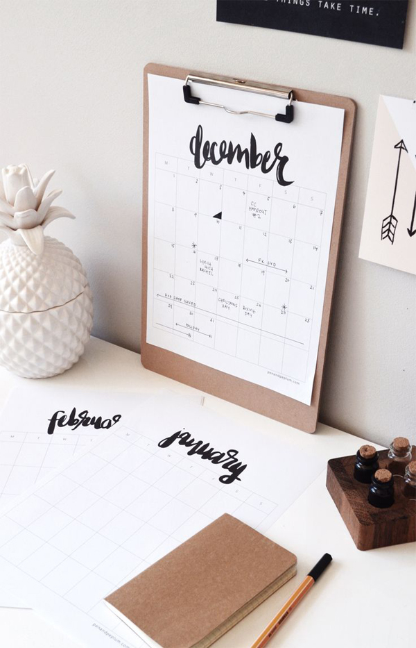 15 Genius DIY Wall Calendar Projects Home Design And