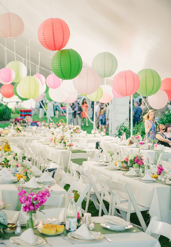 Colorful Pastel Wedding Lantern Design