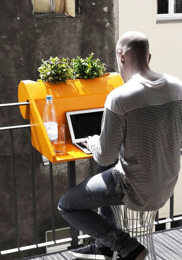 Small And Cozy Workspace At Balcony Home Design And Interior