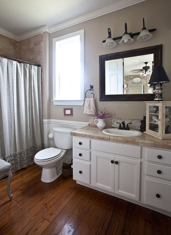 20 Cozy And Beautiful Farmhouse Bathroom Ideas | Home ... on Bathroom Remodel Design Ideas  id=80179