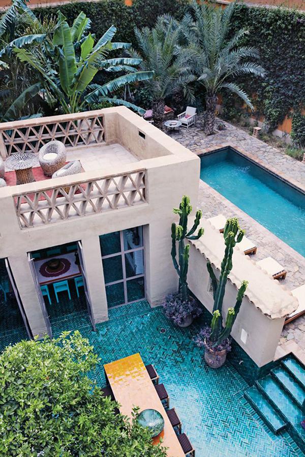 moroccan-backyard-pool-ideas on Moroccan Backyard Design  id=36447