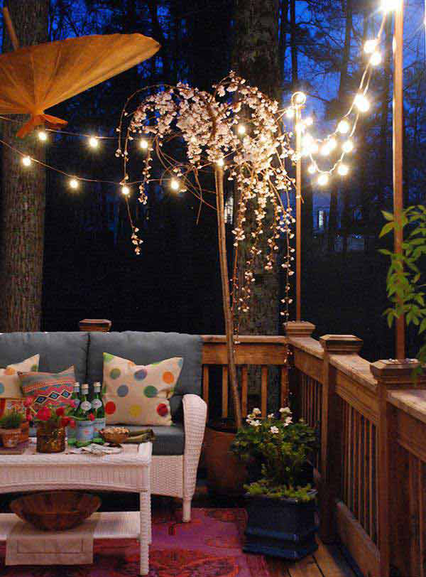 20 Amazing String Lights For Your Outdoor Patio   Home ... on Romantic Patio Ideas id=13964