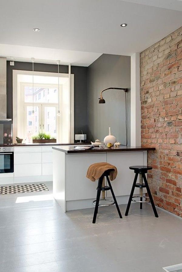 20 Minimalist Kitchens With Exposed Brick Walls | Home ... on Rustic:rkh3E0Gkuju= Farmhouse Kitchen Ideas  id=47826
