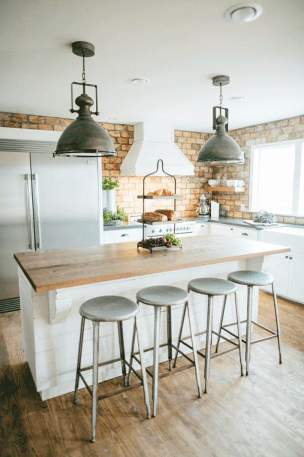 20 Minimalist Kitchens With Exposed Brick Walls Home Design And Interior