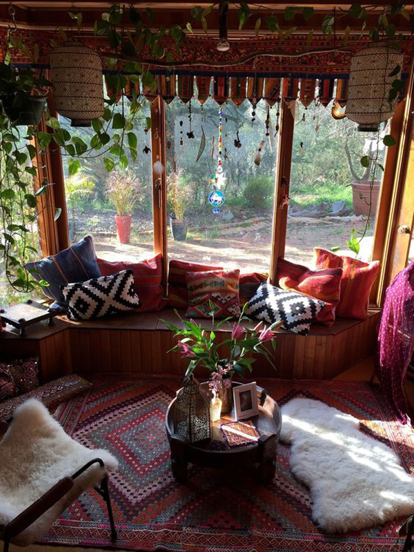 15 Inspiring Bohemian Porch With Colored Textiles Home