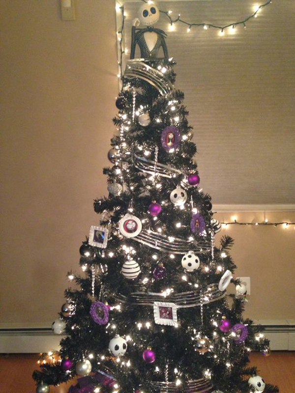 20 Black Christmas Tree With Gothic Style Home Design