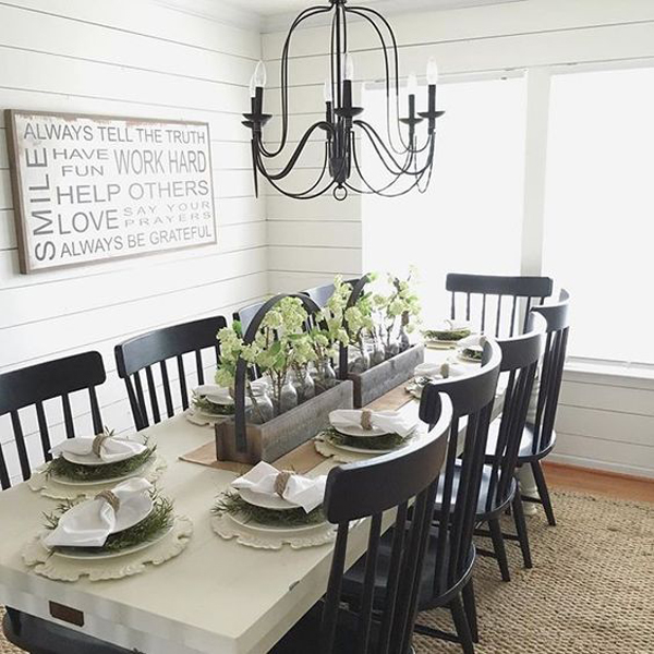 25 Calmness Dining Room With Farmhouse Style And Vintage ... on Dining Room Curtains Farmhouse  id=68206