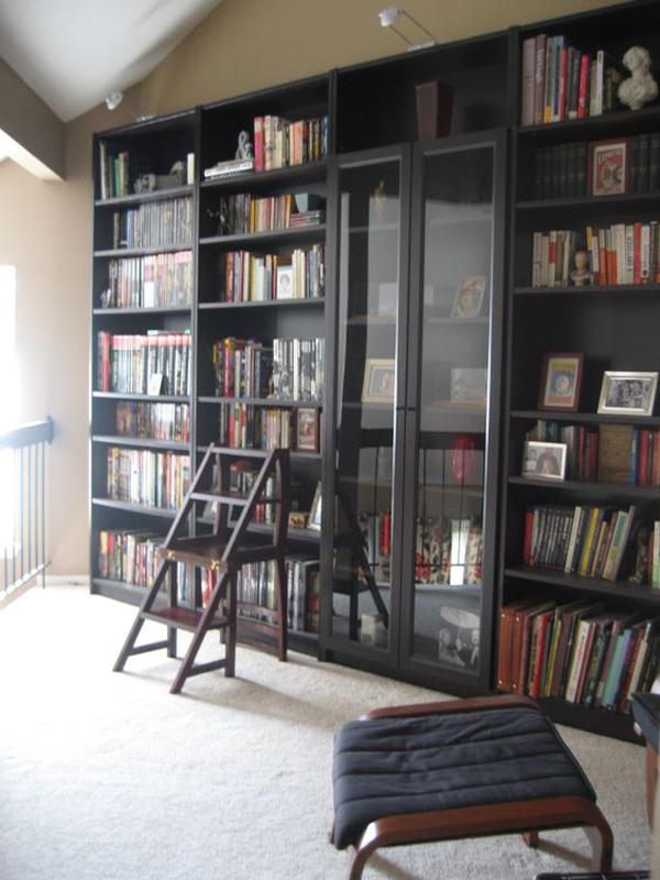 Black Ikea Billy Bookcase Cabinet