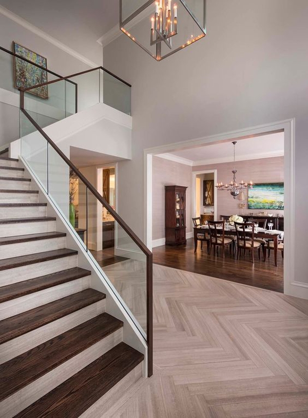 20 Modern Glass Stair Railing Ideas Home Design And Interior | Wood And Glass Handrail
