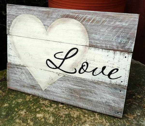 25 Super Romantic Wooden Signs For Valentines Day Home