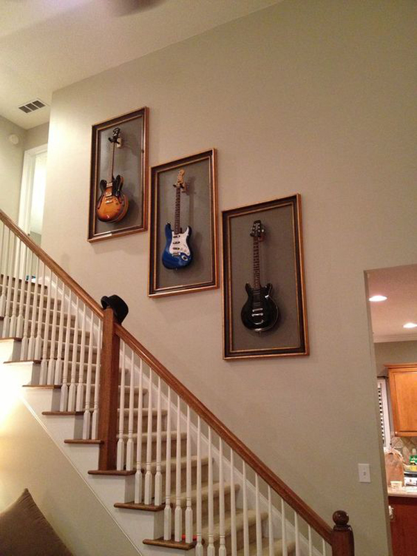 20 Cool Ways To Display Your Guitar Collections Home