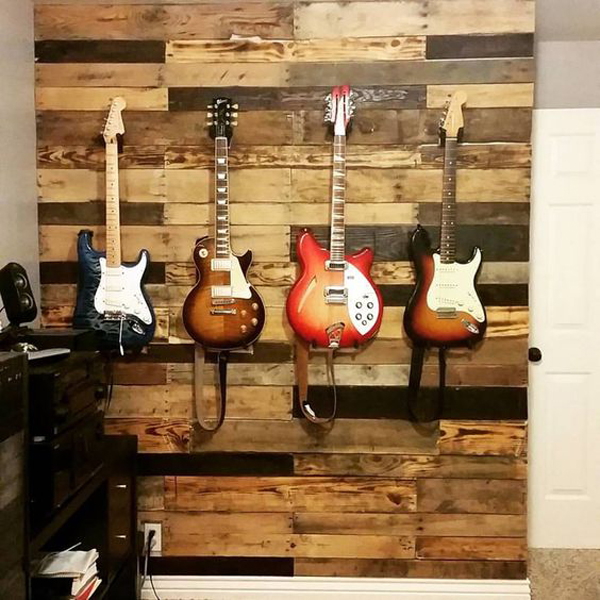 Guitar Pallet Wall Display Ideas