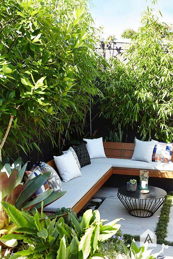 20 Urban Backyard Oasis With Tropical Decor Ideas ... on Tropical Small Backyard Ideas id=79582