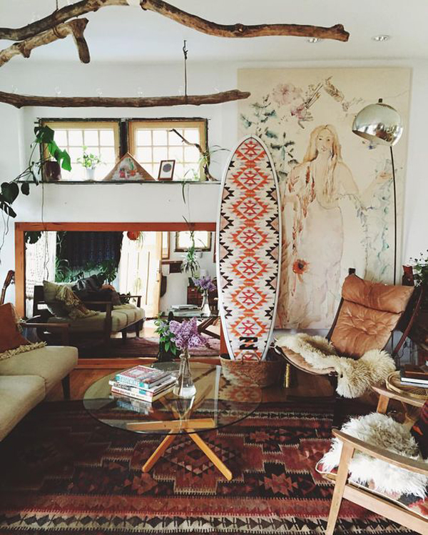 Bohemian Beach Living Room Decor