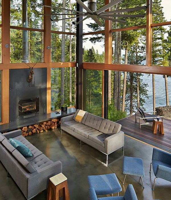 country-chic-indoor-outdoor-living-space-in-mountain-house ... on Indoor Outdoor Living Spaces id=21060