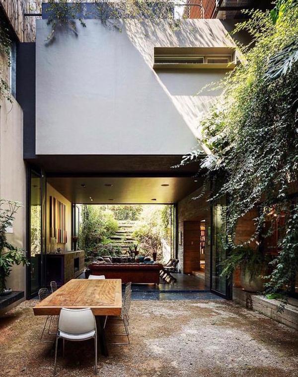 20 Modern Indoor-Outdoor Living Spaces | HomeMydesign on Enclosed Outdoor Living Spaces  id=18998