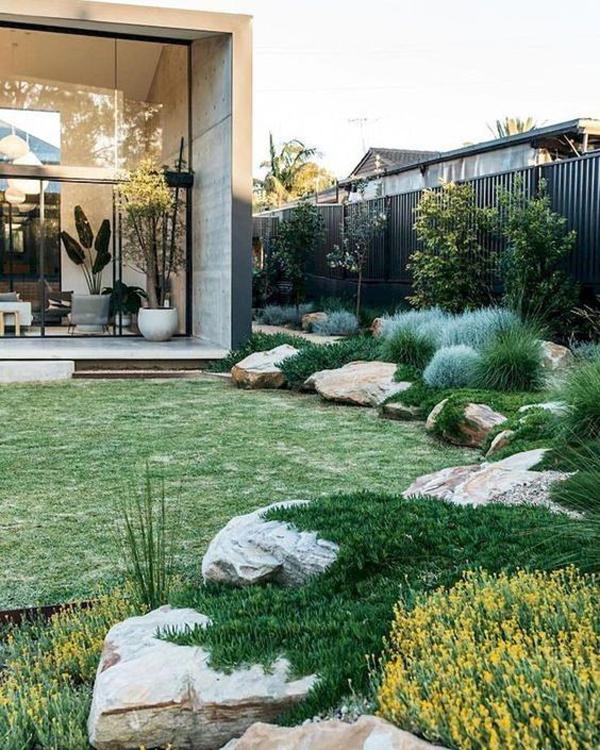 35 Modern Landscape Design Ideas For Minimalist Courtyard ... on Modern Backyard Landscape Ideas id=13235