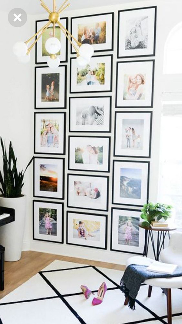 The living room is one of the most important areas in your house for a great hosting experience. pretty-family-photo-frame-decor-ideas   HomeMydesign