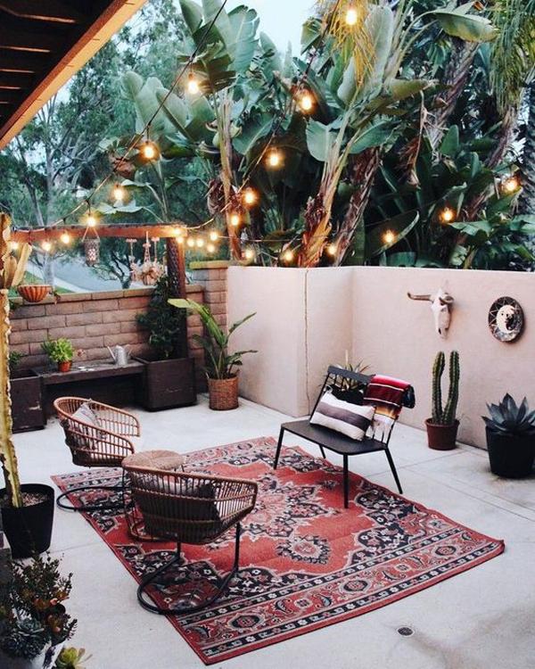 boho-outdoor-living-spaces-for-backyard - HomeMydesign on My Backyard Living id=19648
