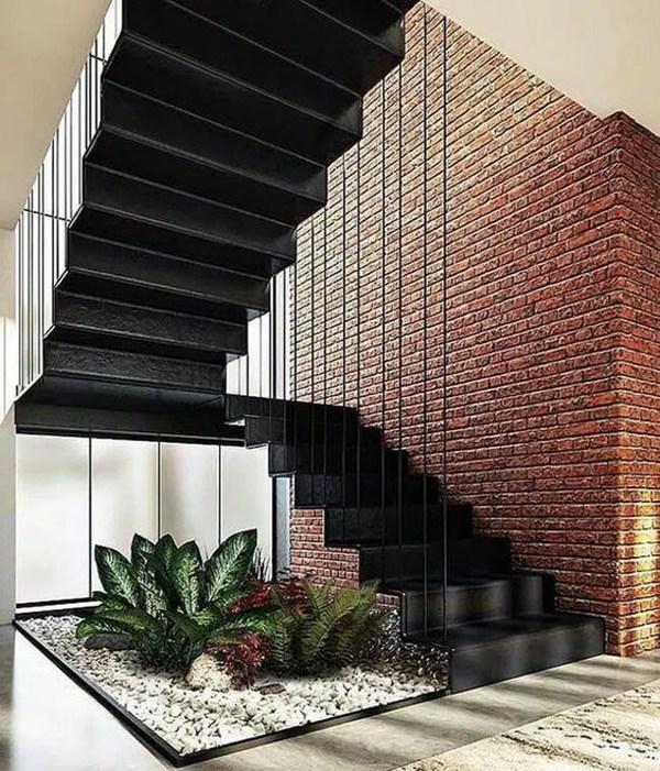 20 Most Creative Indoor Garden Ideas In Under The Stairs | Under Stair Garden Design | Plant | Ideas | House | Stair Case | Pebble Garden