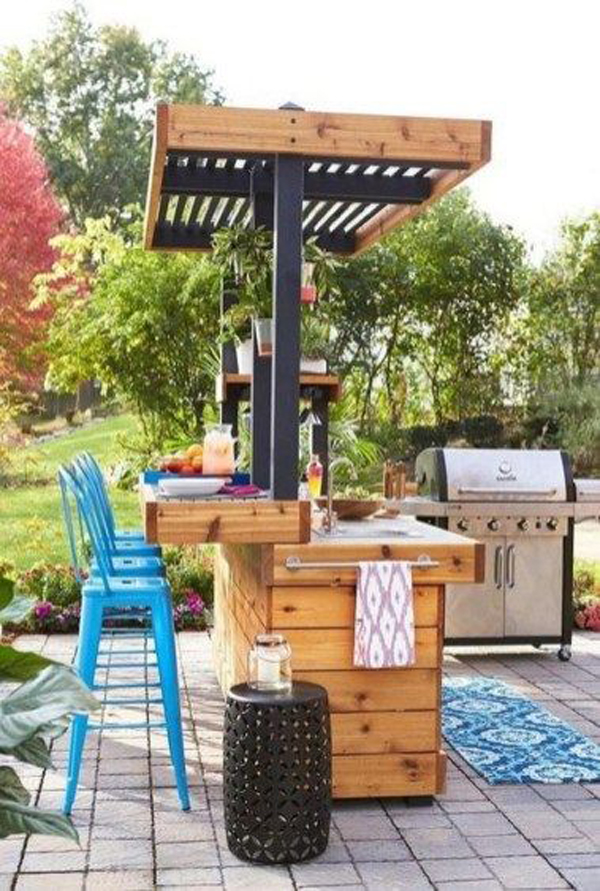 29 Fun And Cozy Outdoor Bar Ideas For This Summer ... on Small Backyard Bar Ideas id=64435