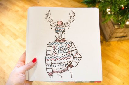 ugly christmas sweater coloring book coloriage adulte pull moche de noel